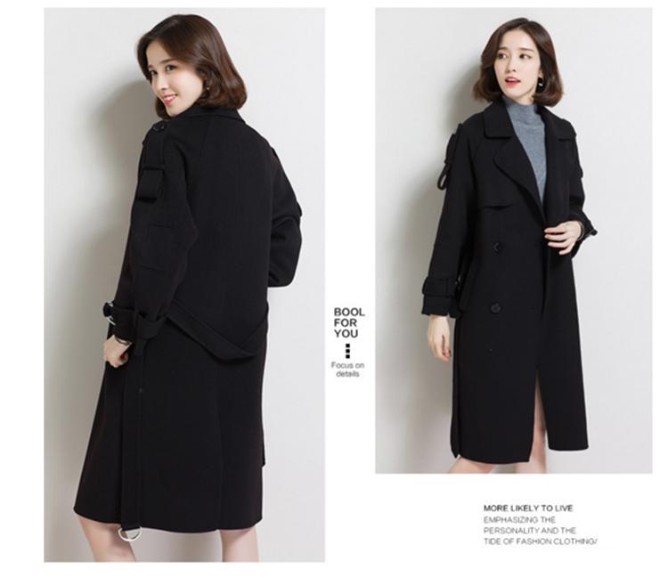 a-a-604 政泽妮 女款 双面羊绒大衣 高圆圆同款 外套