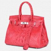 LA-009 政泽妮 泰国鳄鱼皮女包新款手提包女商务宴会铂金包女士包包