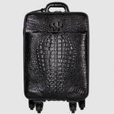 LA-802 政泽妮 鳄鱼皮拉杆箱真皮男旅行箱行李箱登机箱包女万向轮20寸黑